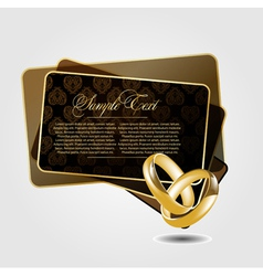 abstract with wedding rings vector image