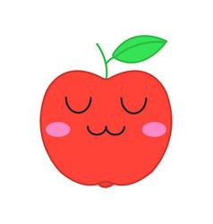 Apple cute kawaii character vector