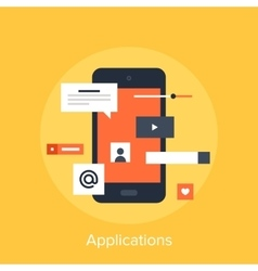 Applications vector image