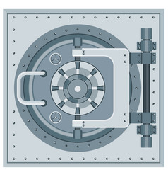 Bank vault icon vector