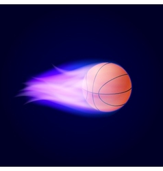 Basketball ball on fire vector