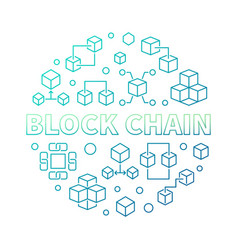 block chain round colored in vector image