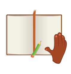 Book reading vector