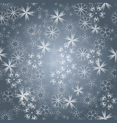 bright snowflakes on a black background red vector image