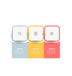 business infographic design label with 3 options vector image
