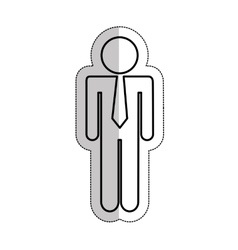 businessman silhouette isolated icon vector image
