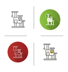 cats tree house icon vector image
