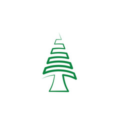 christmas fir tree icon element vector image