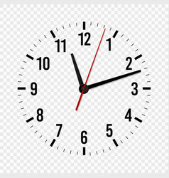 Clock mockup hour minute and second hands with a vector