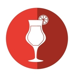 Cocktail glass cup alcoholic beverage shadow vector