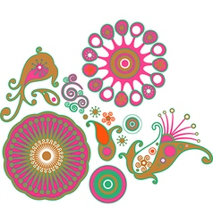 Colorful abstract floral pattern decorative vector