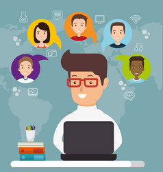 Community social media people vector