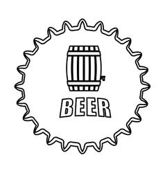 contour beer cap emblem icon image vector image