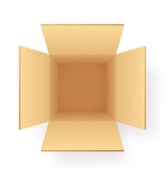 Corrugated paper cardboard box shipping packing vector
