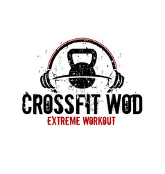 Crossfit wod vector