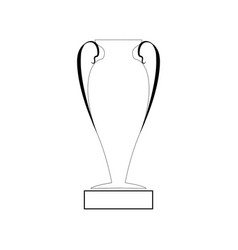 cup award silhouette vector image