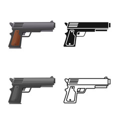 Design pistol and caliber symbol vector