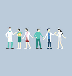 doctor nurse medical team set collection vector image