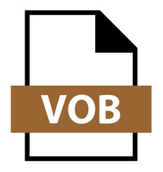 File name extension vob type vector