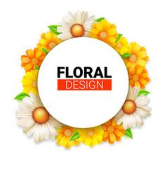 flower wreath of spring wildflowers floral vector image
