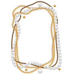 frame with golden chains vector image