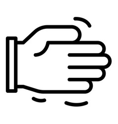 Friend help hand icon outline style vector