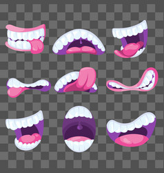 funny comic mouths expressing different vector image