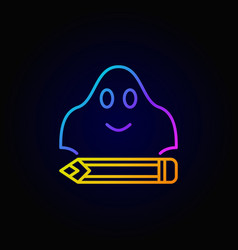 Ghost writing colorful concept icon vector