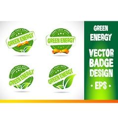 Green energy Badge vector image