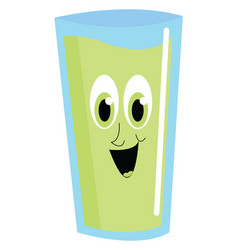 green happy juice on white background vector image