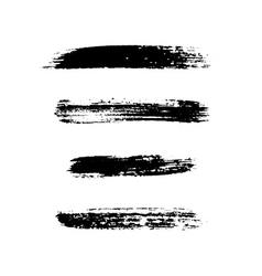 Grunge brushes stroke texture set vector