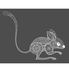 Hand drawn entangle mouse totem for adult anti vector