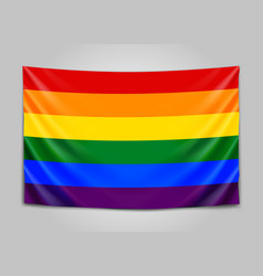 Hanging flag lgbt tolerance concept vector