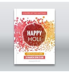 Holi festival poster Template for flyer brochure vector