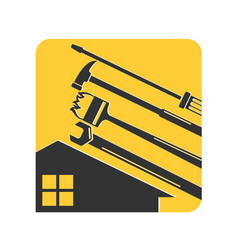 home repair tool with symbol vector image