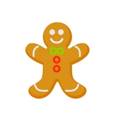 homemade gingerbread cookie isolated on vector image