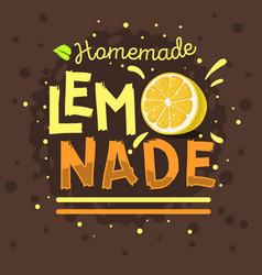 Homemade lemonade typographic logo label type vector