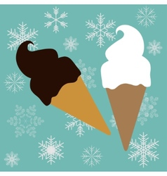 Ice-creams cone vector