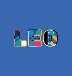 Leo concept word art vector