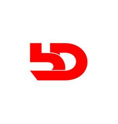 letter bd symbol linked geometric design logo vector image