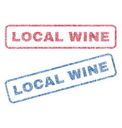 Local wine textile stamps vector