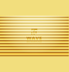 Luxury golden gradient color wave pattern vector