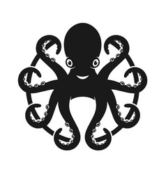 mascot doctor octopus design vector image
