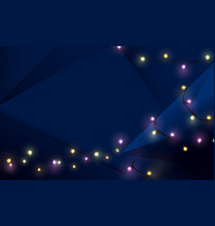merry christmas postcard and dark blue background vector image