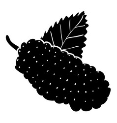 Mulberry icon simple style vector