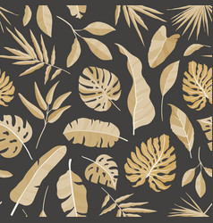 natural seamless pattern with tropical foliage vector image