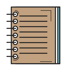 note book school icon vector image