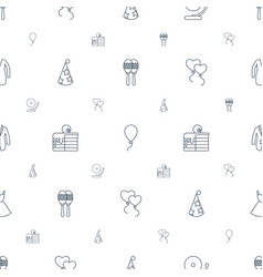 Party icons pattern seamless white background vector