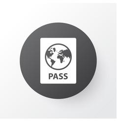 passport icon symbol premium quality isolated vector image