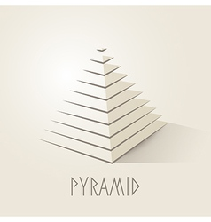 Pyramid shape abstract symbol vector image